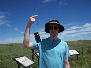 This was found on the Santa Fe Trail in Oklahoma, a geocaching trail maintained by DAR!